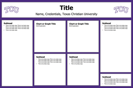 Tcu cis for Powerpoint poster template 24x36